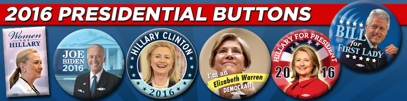 2016 Potential Presidential Candidate Buttons