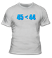 45<44 in Blue T-Shirt - TS62317-WHITE-SM
