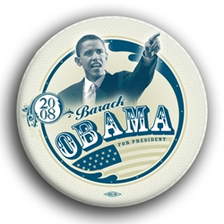 "Barack and Flag Photo 3"" Button"