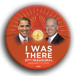 "I Was There Inaugural 3"" Button"