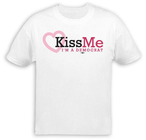 Kiss Me I'm a Democrat T-Shirt