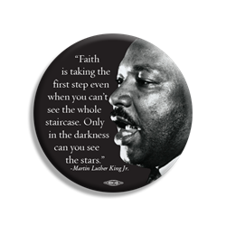 "MLK Faith 3"" Button"