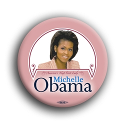 "Michelle Obama - Pink 2.25"" Button"