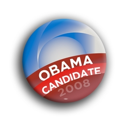"Obabma Candidacy 3"" Button"