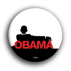 "Obama Black and Red 2.25"" Button"