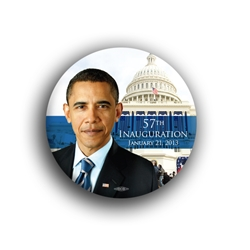 "Obama Inauguration 2012 3"" Button"