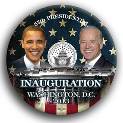 "Obama and Biden Flag 3"" Button"