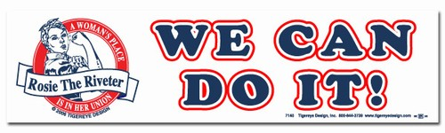 We Can Do It! Rosie the Riveter Bumper Sticker