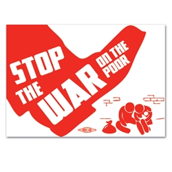 Stop the War on Poor Bumper Sticker
