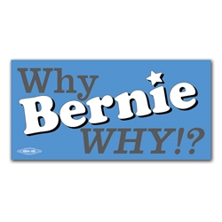 Why Bernie Why!? Bumper Sticker