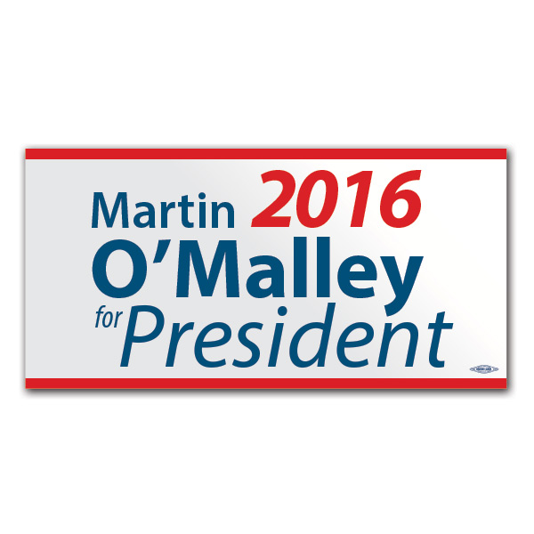 Martin O'Malley for President Bumper Sticker