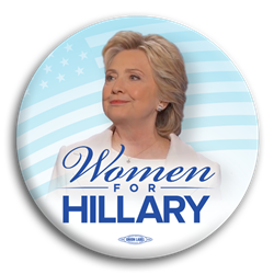 Women For Hillary Photo Button
