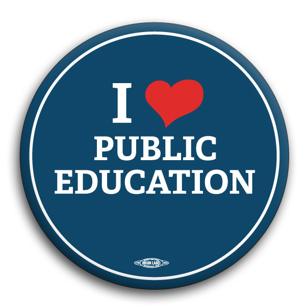 I Heart Public Education Button