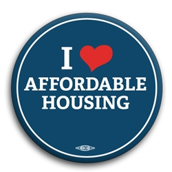 I Heart Affordable Housing Button