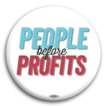 People Before Profits Button (White)