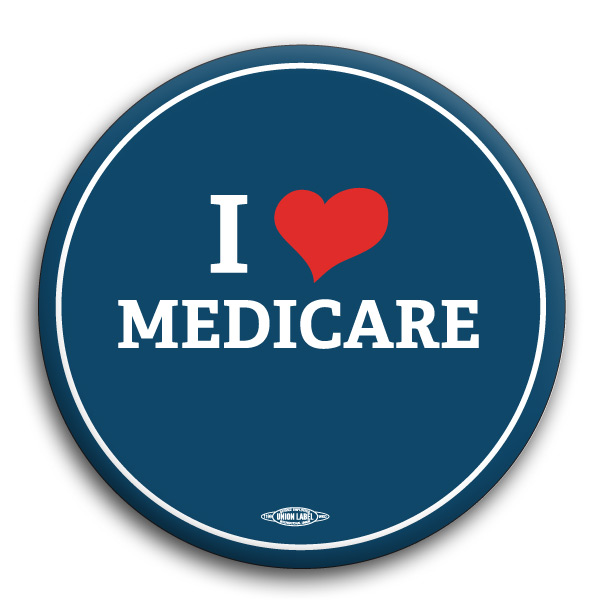 "I Heart Medicare 3"" Button"