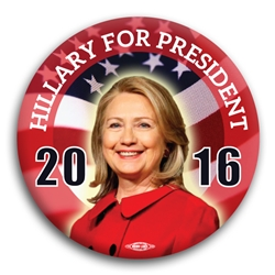 Hillary for President 2016 Button