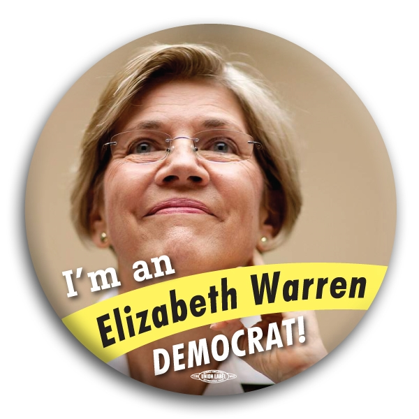 Elizabeth Warren Democrat Button