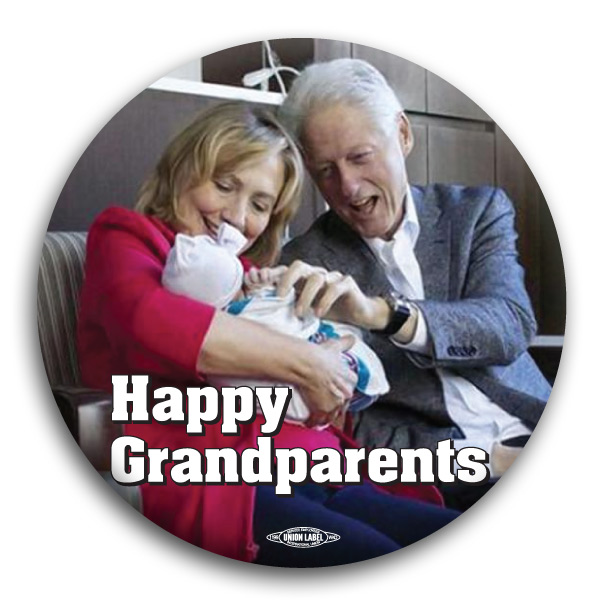 "Happy Grandparents the Clintons 3"" Button"