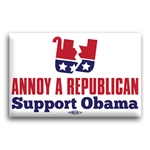 Annoy A Republican Support Obama Button