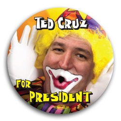 Ted Cruz for President Clown Button