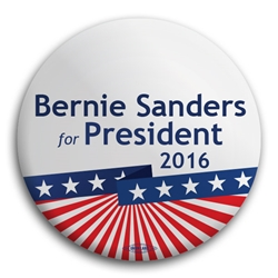 Bernie Sanders for President Stars and Stripes Button