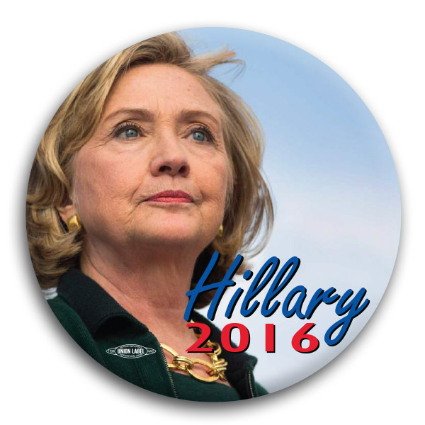 Hillary Clinton 2016 Photo Button