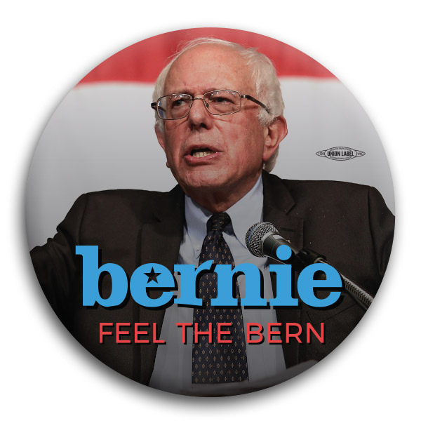 Bernie Sanders Feel The Bern Button