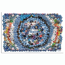 The Road to the White House is Paved with Buttons Poster