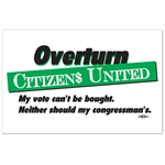 Overturn Citizens United Rally Sign