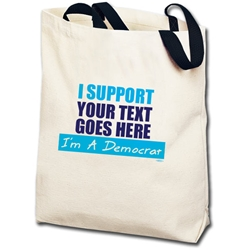 I Support... Im a Democrat Personalized Totebag