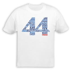 All 44 Presidents List T-Shirt