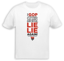 GOP Lie Lie Again T-Shirt