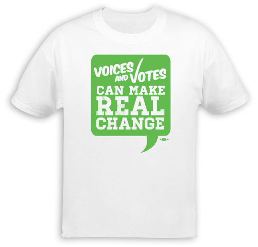 Voices and Votes Make Real Change T-Shirt