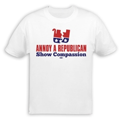 Annoy A Republican Show Compassion T-Shirt