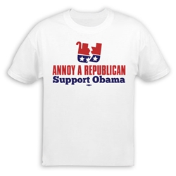 Annoy A Republican Support Obama T-Shirt