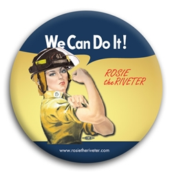 We Can Do It! Firefighter Rosie the Riveter Button