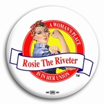 Rosie the Riveter White Button