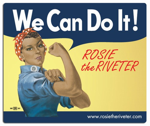 We Can Do It! Ethnic Rosie the Riveter Mouse Pad