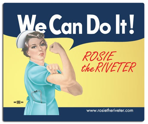 We Can Do It! Nurse Rosie the Riveter Mouse Pad