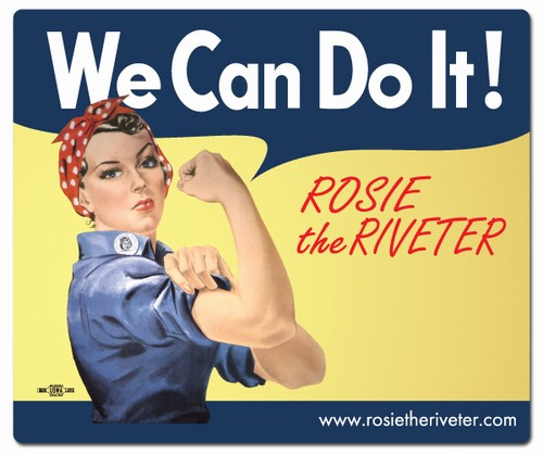 We Can Do It! Rosie the Riveter Mouse Pad