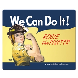 We Can Do It! Firefighter Rosie the Riveter Mouse Pad