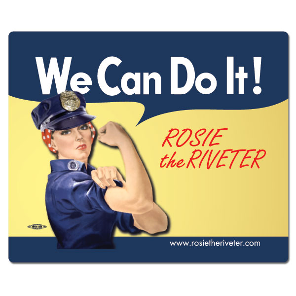 We Can Do It! Police Officer Rosie the Riveter Mouse Pad