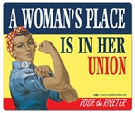 A Woman's Place... Ethnic Rosie the Riveter Mouse Pad