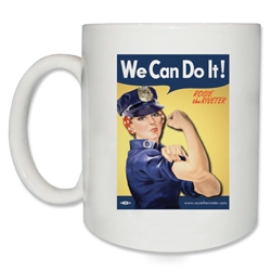 We Can Do It! Police Officer Rosie the Riveter Coffee Mug