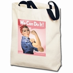 We Can Do It! Pink Rosie the Riveter Totebag