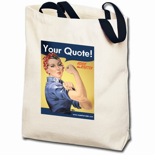 Personalized Rosie the Riveter Totebag