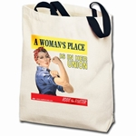 A Woman's Place... Rosie the Riveter Totebag