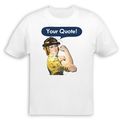 Personalized Firefighter Rosie the Riveter T-Shirt