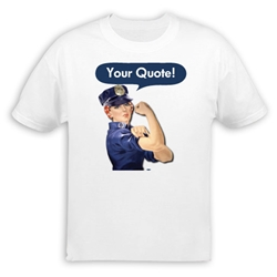 Personalized Police Officer Rosie the Riveter T-Shirt